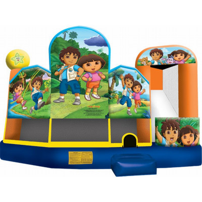 Inflatable Dora & Diego 5 In 1 Combo