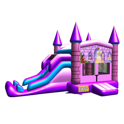 Pink Princess Castle Jump Slide