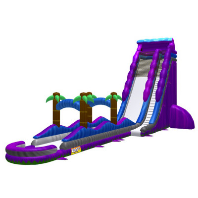 26ft Purple Water Slide And Slip & Slide