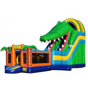 Inflatable Mutliplay Crocdile Slide
