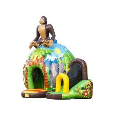 Disco Fun Bouncy Castle Jungle