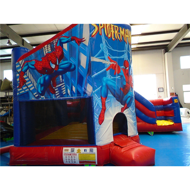 Spiderman Bouncy Castle With Slide
