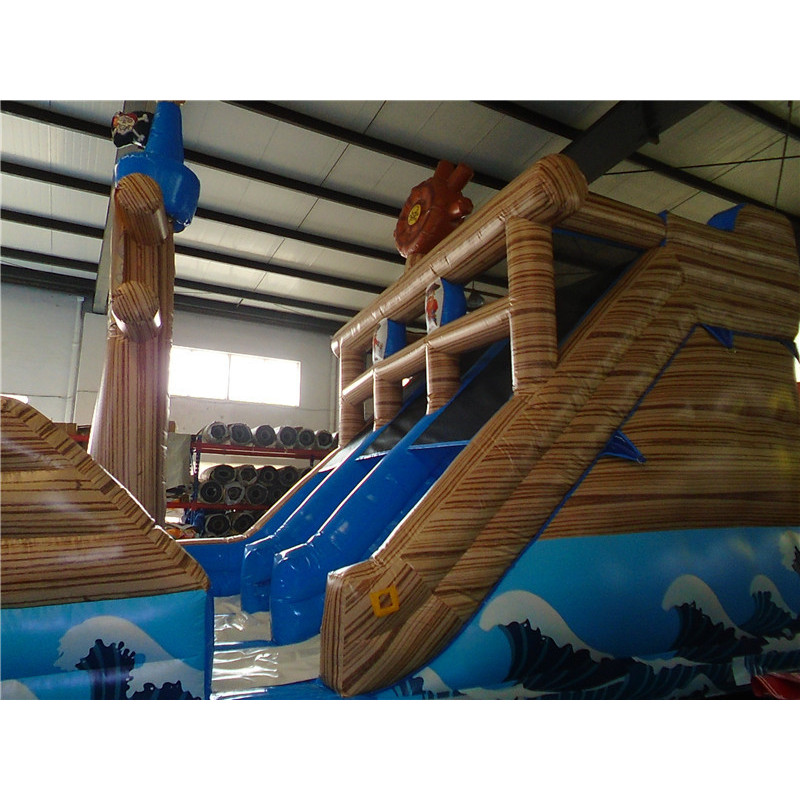 Inflatable Pirate Double Line Slide