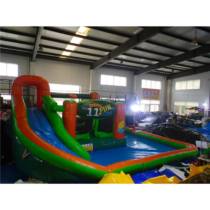 Bouncy Castle With Slide And Pool
