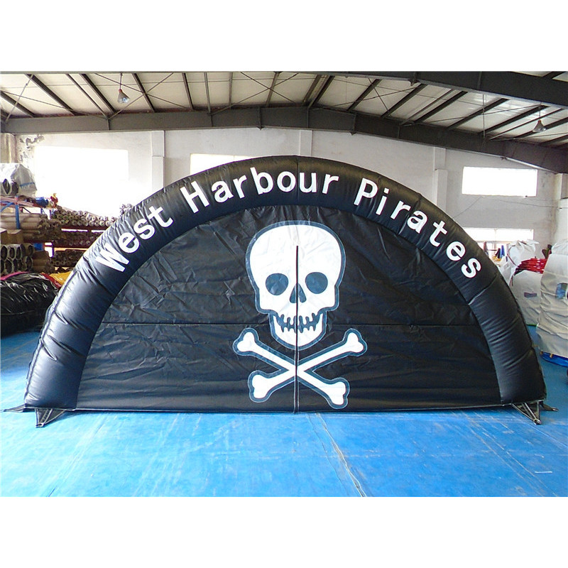 Black Inflatable Tunnel